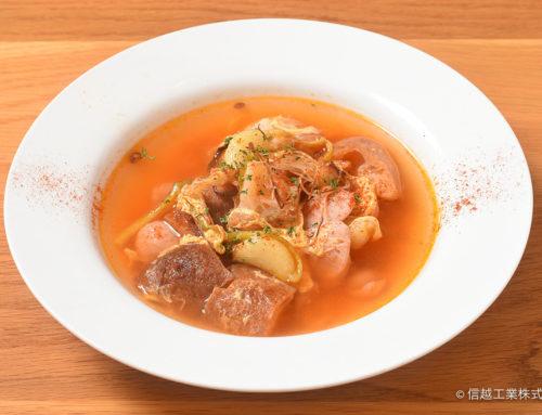 ひげにんにくのソパ・デ・アホ (スペイン風にんにくスープ)