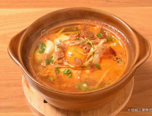 ひげにんにくのスンドゥブチゲ(韓国風豆腐鍋)